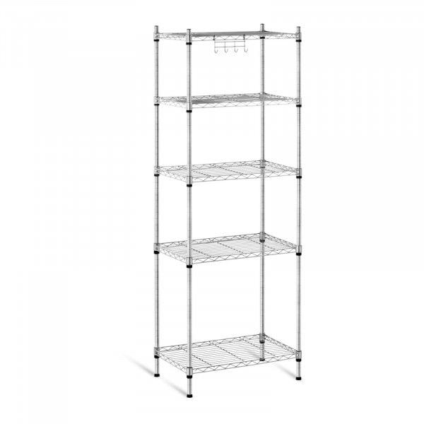 B-WARE Metal Storage Rack - 35 x 55 x 150 cm - grey