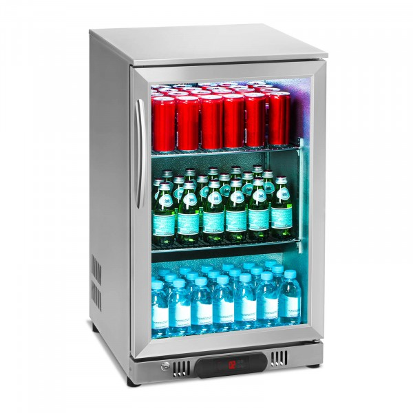 Beverage refrigerator - 108 L - stainless steel casing