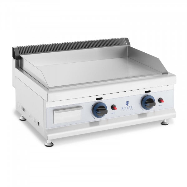 Gas Griddle - 60 x 40 cm - smooth - 2 x 3,100 W - natural gas - 20 mbar