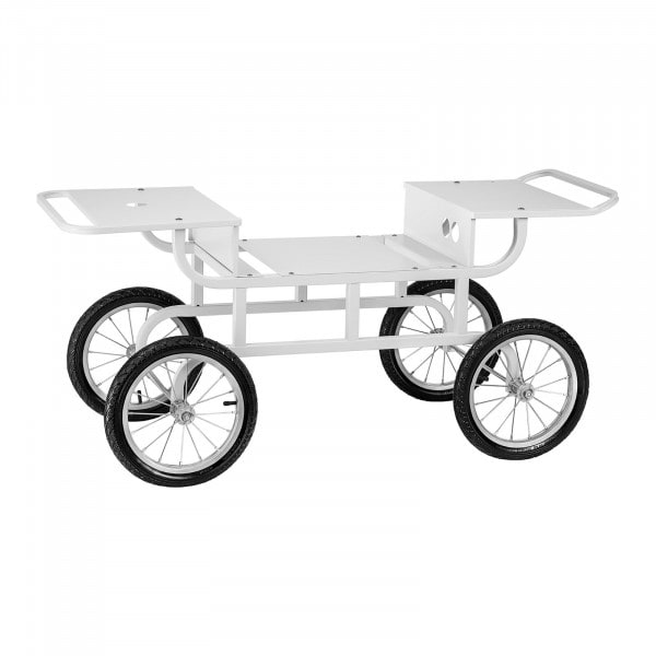 Trolley For Candy Floss Machine - 4 Wheels - White