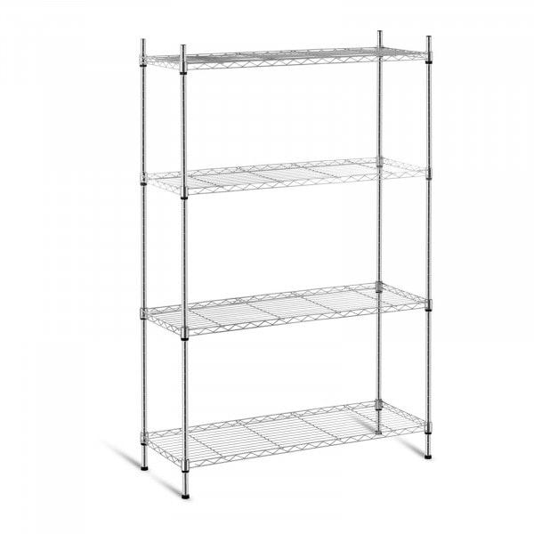Metal Storage Rack - 35 x 90 x 137 cm - chrome