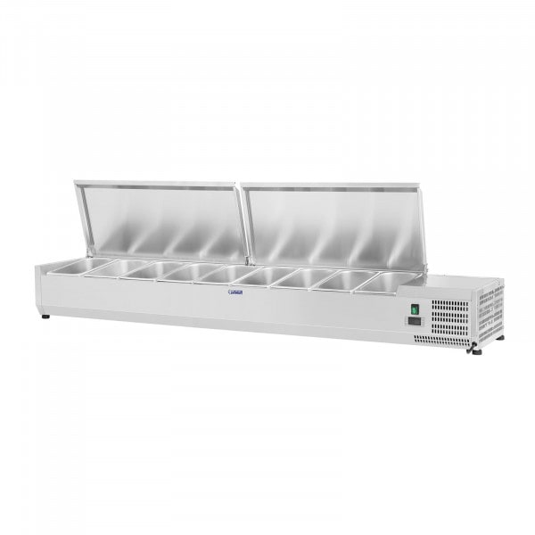 Countertop Refrigerated Display Case - 200 x 39 cm - 9 GN 1/3 Containers