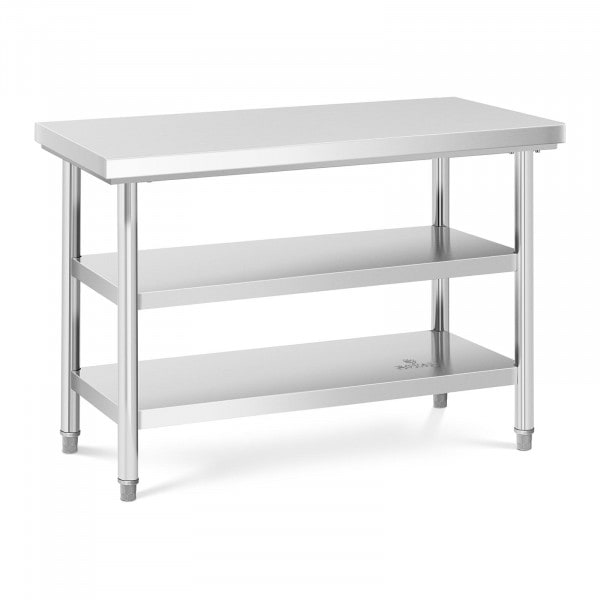 Stainless Steel Work Table - 120 x 60 cm - 600 kg - 3 levels