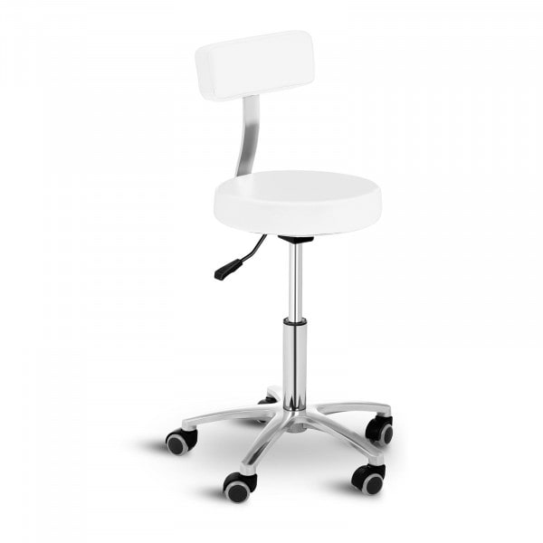 Stool Chair with Back TERNI WHITE