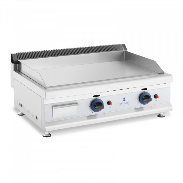 Gas Griddle - 74.5 x 40 cm - smooth - 2 x 3,100 W - propane/butane - 20 mbar