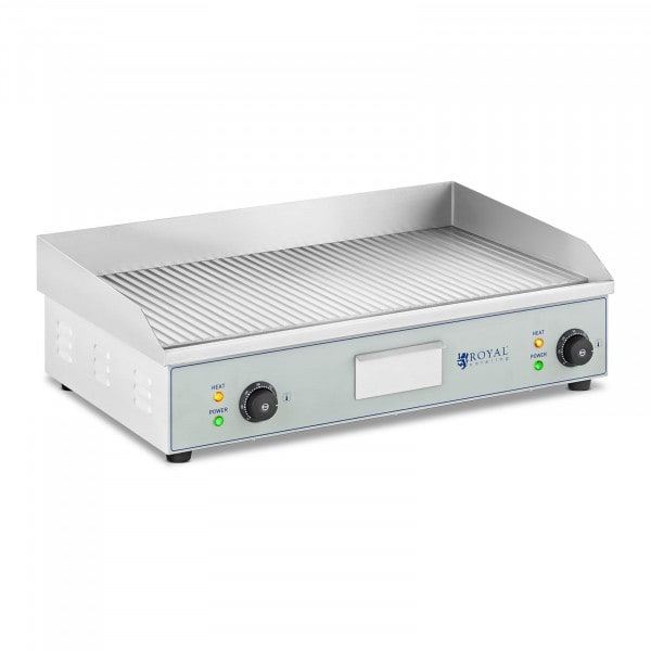Double Electric Griddle - 400 x 730 mm - Royal Catering - 2 x 2,200 W