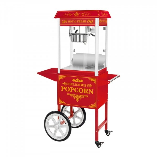 Popcorn Maker with trolley - Red