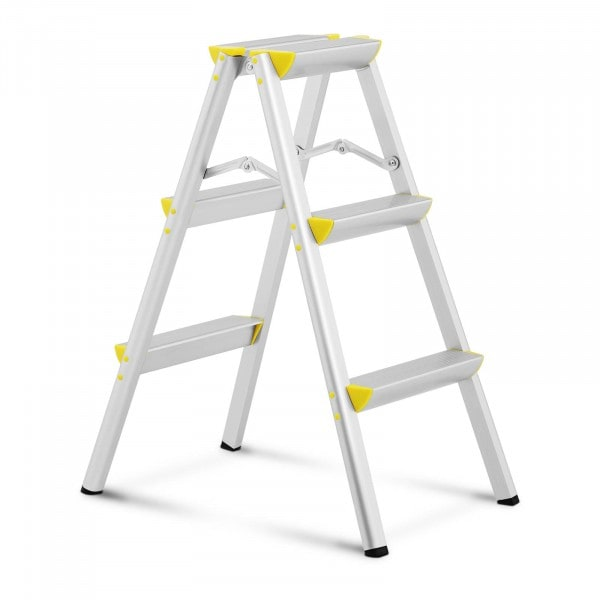 Step Ladder - 2 x 3 steps - aluminium - height 75 cm