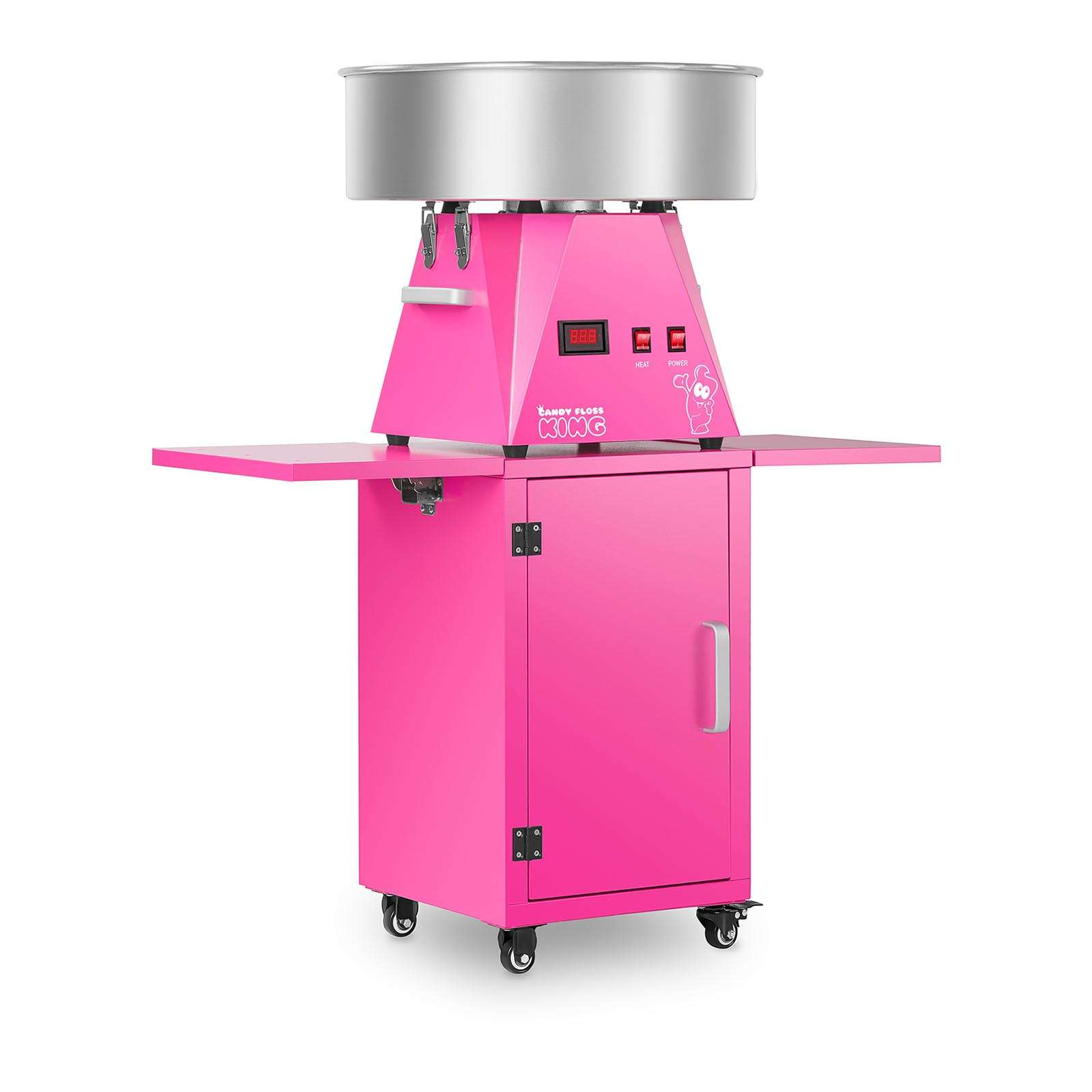 Candy Floss Machine Set With Trolley 52 cm Pink Pink