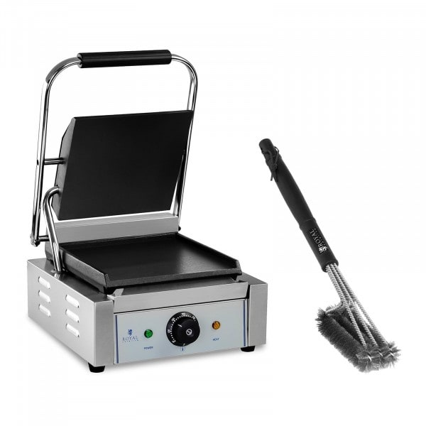 Contact Grill and 3-sided Grill Brush Set - 1,800 W - smooth