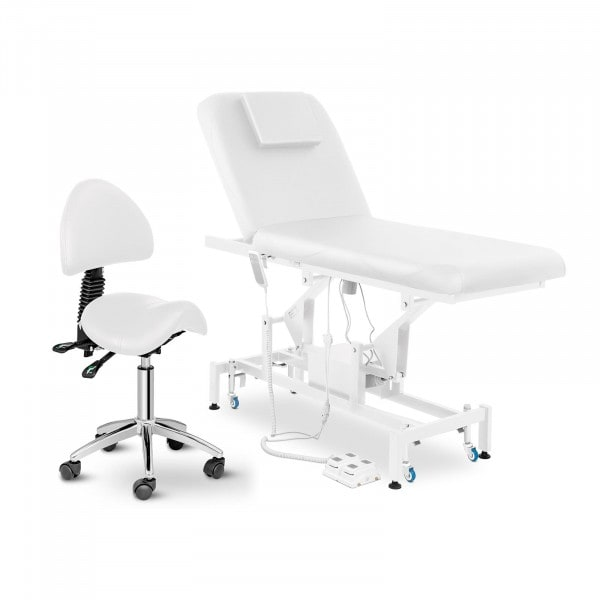 Electric Massage Table and Saddle Chair - 2 motors - foot pedal