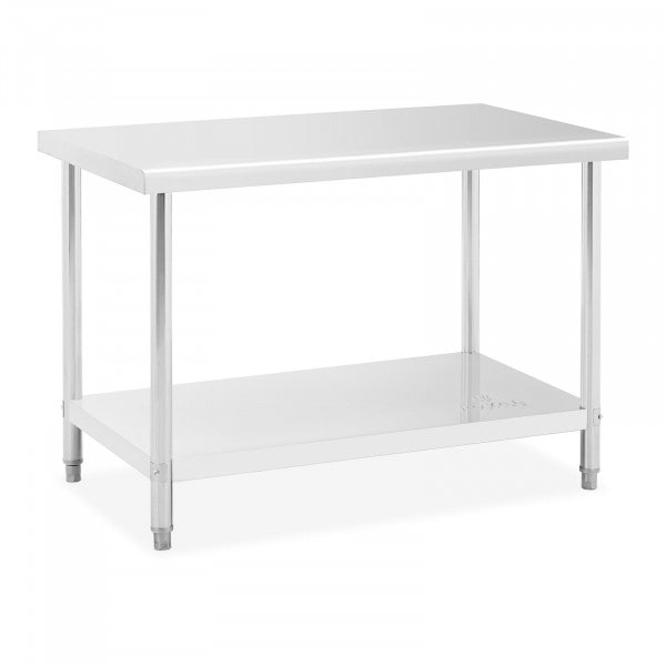Stainless Steel Table - 120 x 70 cm - 115 kg capacity