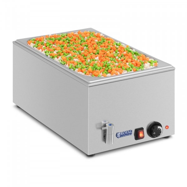 Bain-marie - GN container - 1/1 - drain tap