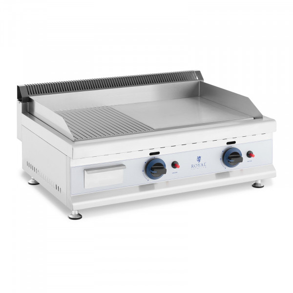 Gas Griddle - 74.5 x 40 cm - smooth/ribbed - 2 x 3,100 W - propane/butane - 20 mbar