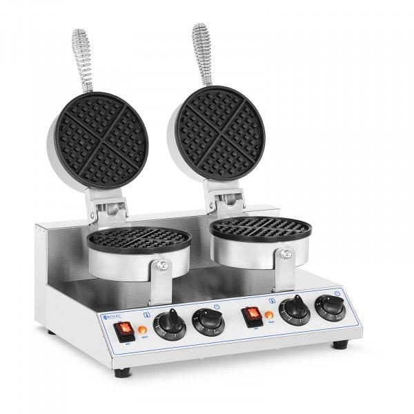 Double Waffle Maker - round- 2,600 W