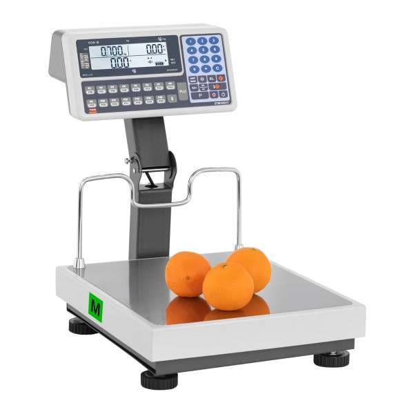 B-WARE Price Scale with raised display - calibrated - 30 kg / 10 g - 60 kg / 20 g