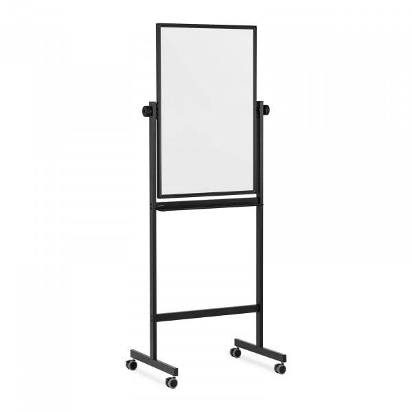 Whiteboard - 90 x 60 cm - double-sided - tiltable - castors
