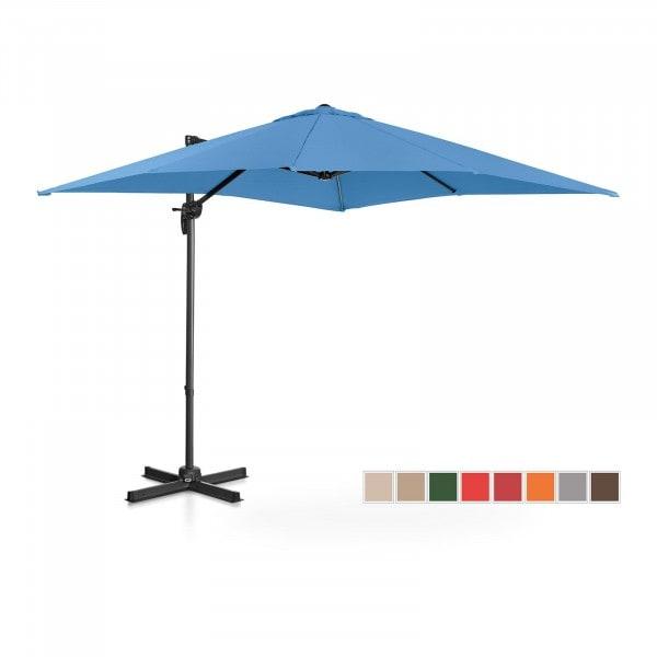 Hanging Parasol - blue - square - 250 x 250 cm - rotatable