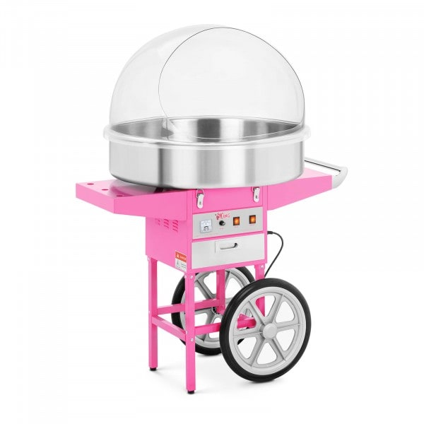Commercial Candy Floss Machine - 72 cm - 1200 W - Incl. Wagon