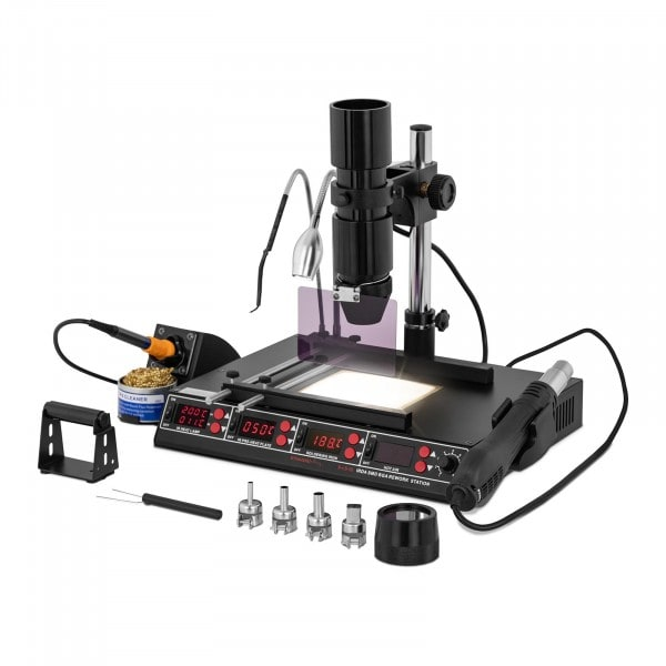 Soldering Station with pre-heating plate and infrared lamp – 1450W – 4 x LED – Basic