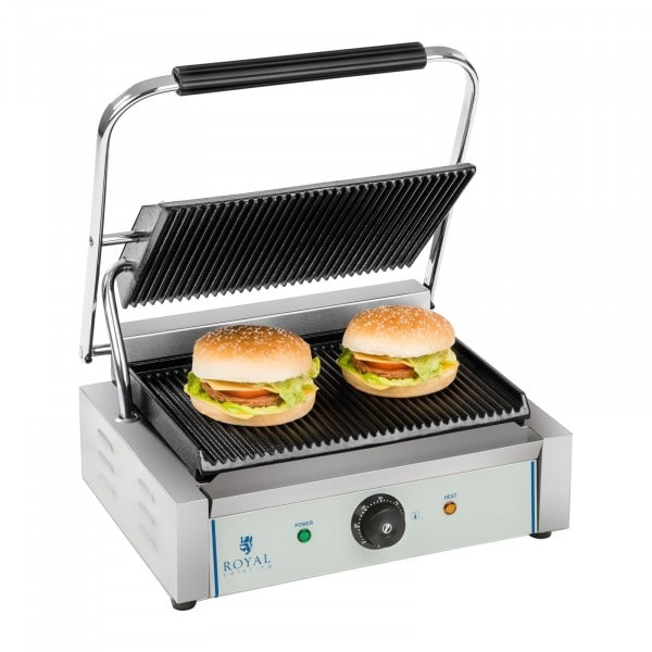 B-WARE Contact Grill - Ribbed Griddles - 2200 W