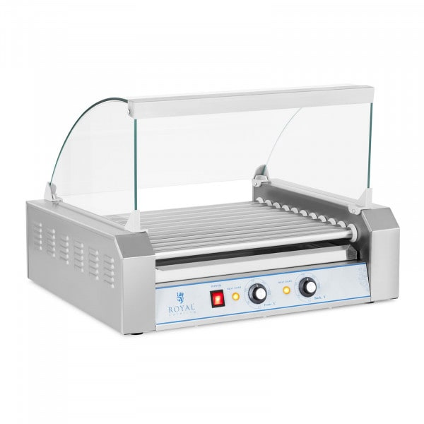 Hot Dog Grill - 11 rollers - stainless steel