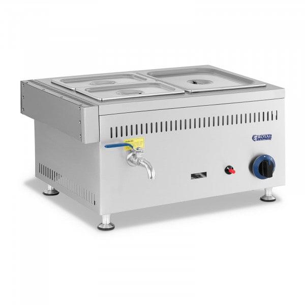 Gas Bain-Marie - 3300 W - GN 1 x 1/2 + 2 x 1/4 - 0.02 bar - G20