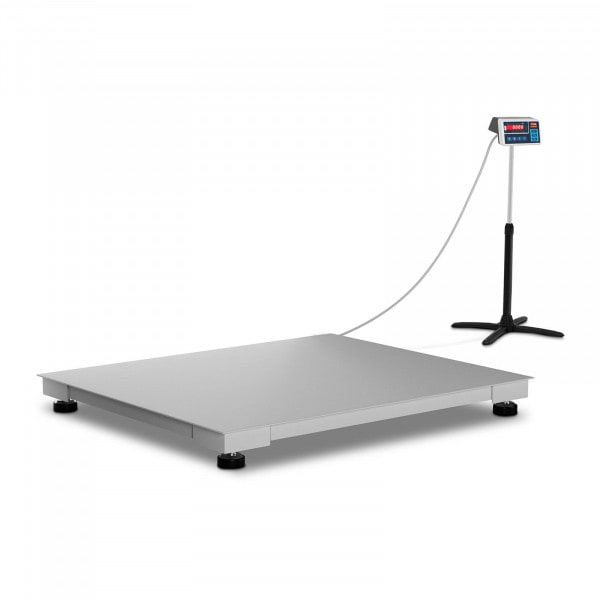 Floor Scale - trade-approved - 600 kg / 200 g - 100 x 120 cm - LED