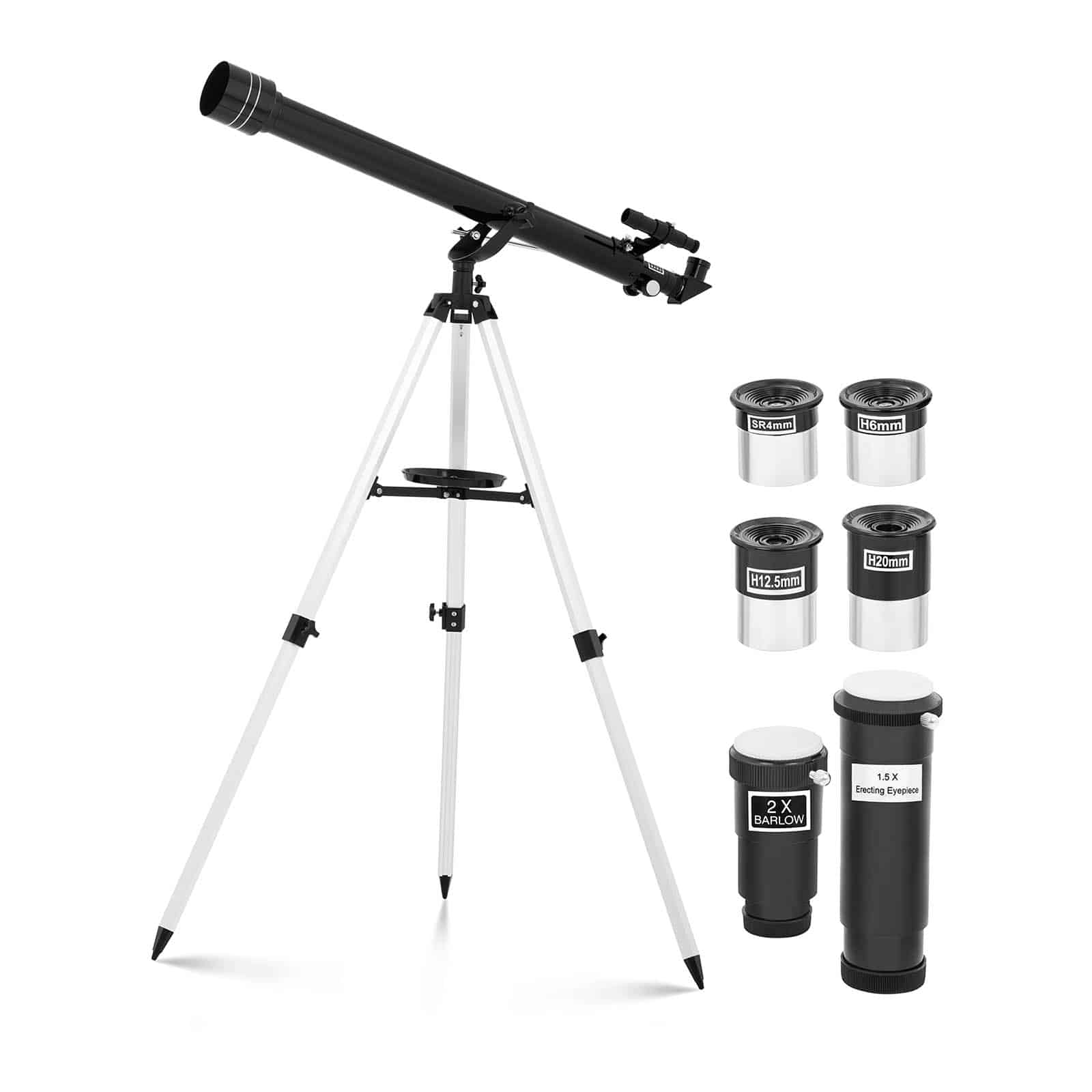 Black telescopes for professionals and beginners