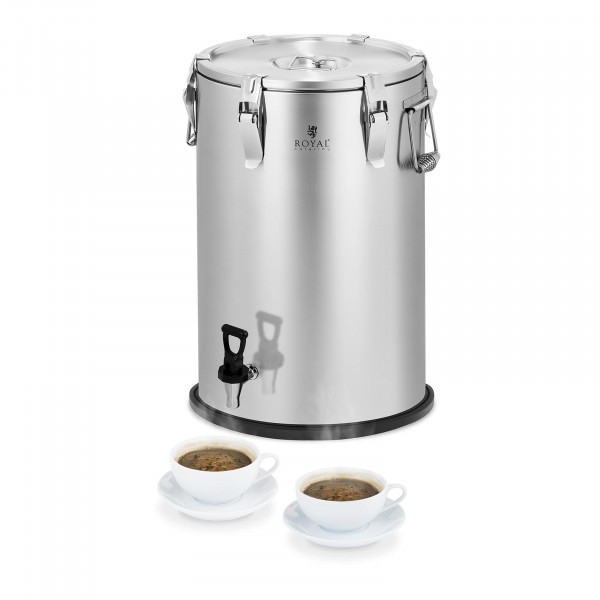 Isothermal Container - Stainless Steel - 35 L - with Drain Tap