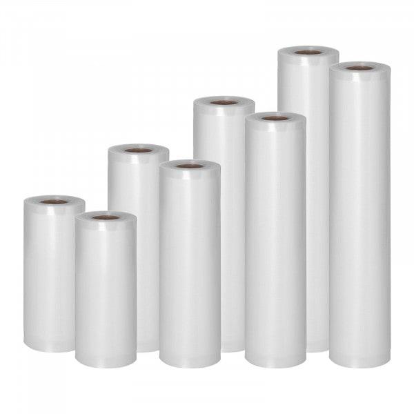 Vacuum Seal Bags - 8 Rolls - 48 m - 15 to 30 cm