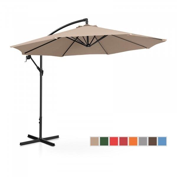 B-WARE Hanging Parasol - creme - round - Ø 300 cm - tiltable