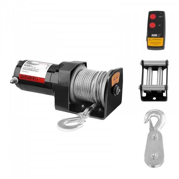 Electric Winch - 907 kg - 2.000 lbs - Incl. Pulley