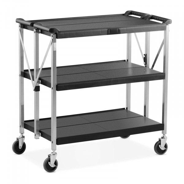 Service Cart - 3 shelves - 90 kg - 51.2 x 83 cm - folding