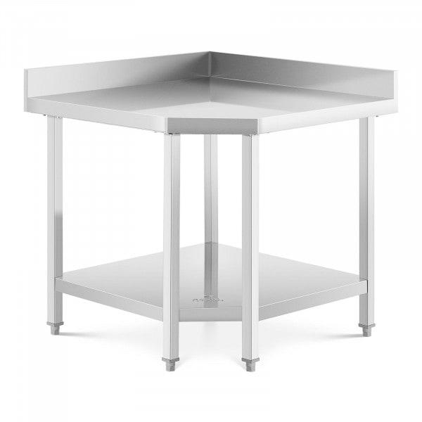 Stainless Steel Corner Table - 90 x 70 cm - 300 kg capacity