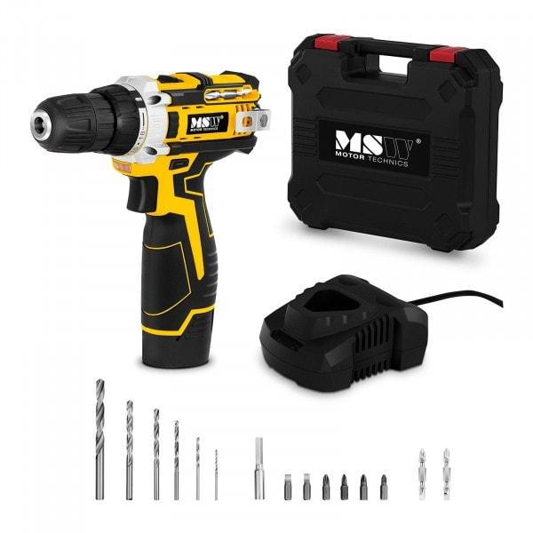 Cordless Drill Screwdriver - 10.8 V - 1.500 r/min - 25 Nm - Incl. Screw and Drill Bits