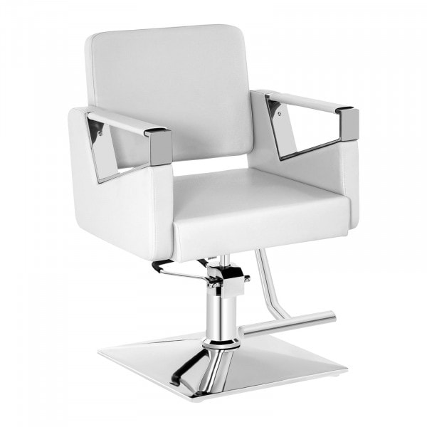 Barber Chair with Footrest BRISTOL WHITE