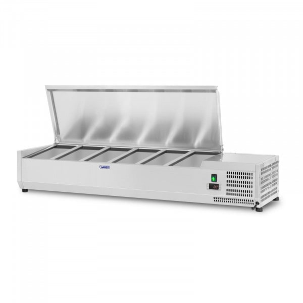 Countertop Refrigerated Display Case - 140 x 39 cm - 5 GN 1/3 Containers
