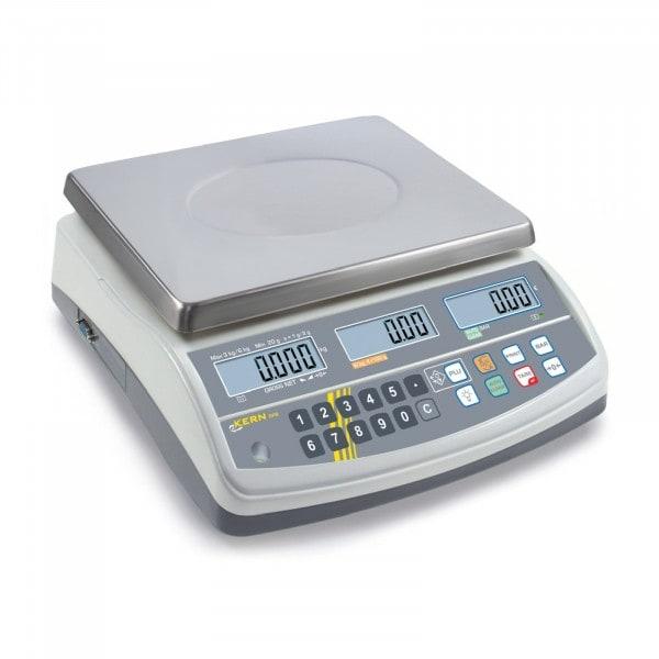 Gesamtansicht von KERN Preisrechenwaage - 6 kg / 2 g - weiß - LCD