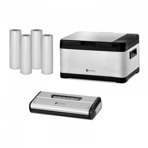 Sous-Vide Cooker Set - Incl. Vacuum Sealer and Vacuum Rollers - 8 L