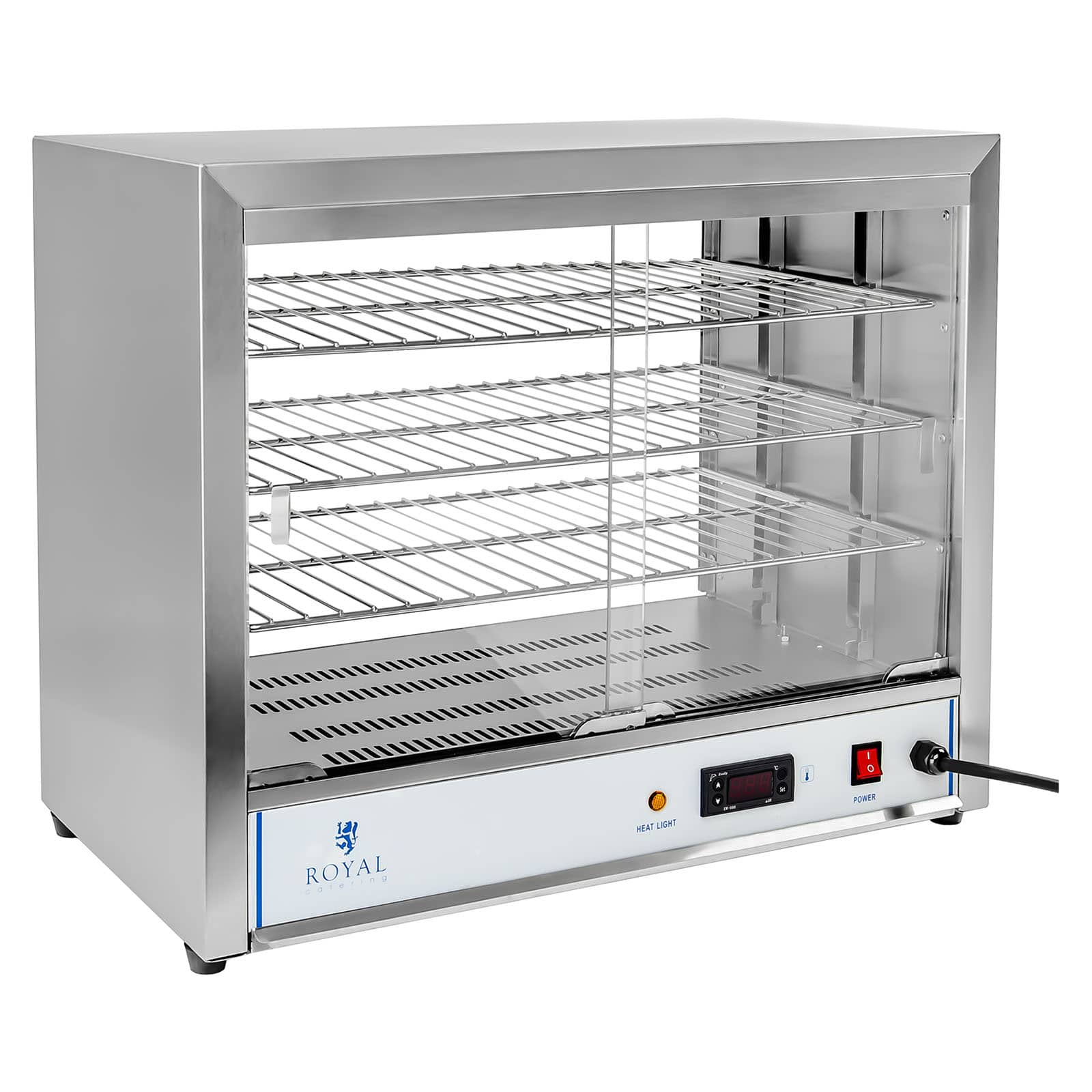 Commercial food warmer display