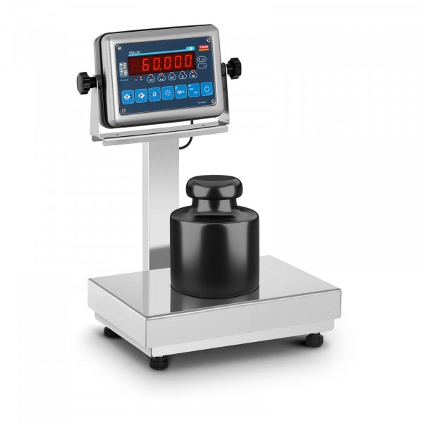 Platform scale - Calibrated - Stainless steel - 60 kg / 20 g