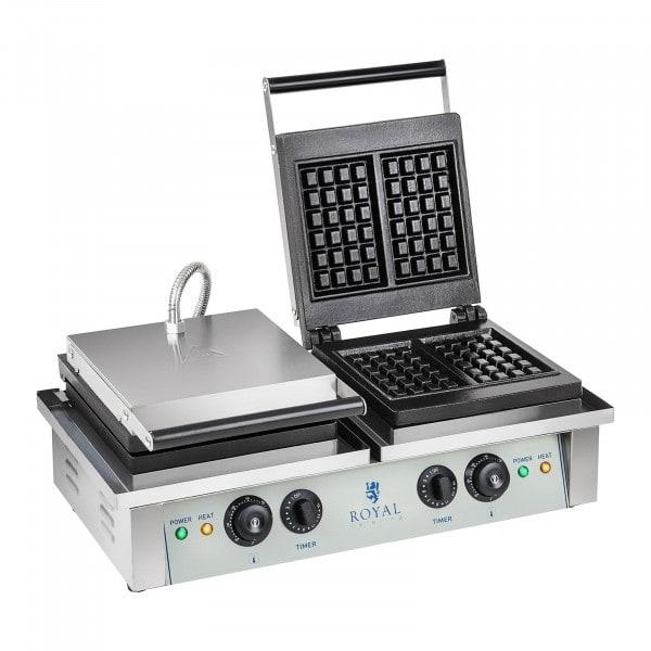 Waffle Iron - 2 x 2,000 watts - rectangular