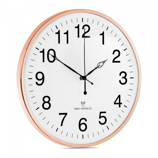 Factory second Wall Clock - radio - Ø 30 cm - rose gold frame