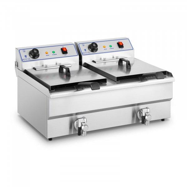 Electrical fryer - 2 x 16 L - 400 V