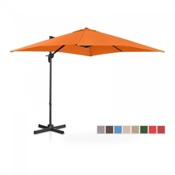 Hanging Parasol - orange - square - 250 x 250 cm - rotatable