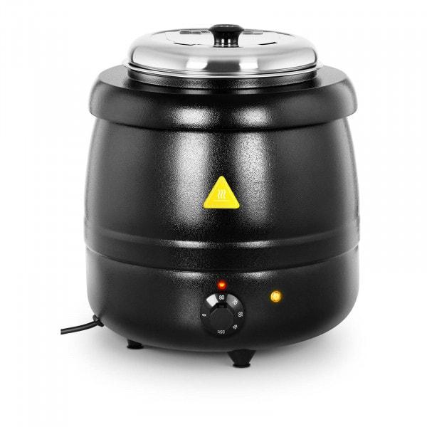 Soup Kettle - 10 L - Steel - black-coated