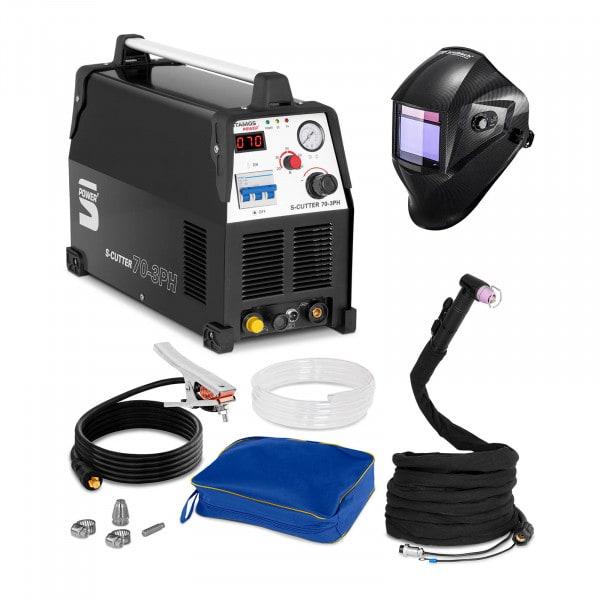 Welding Set Plasma Cutter - 70 A - 400 V - Pilot Ignition + Welding helmet – Carbonic - PROFESSIONAL SERIES