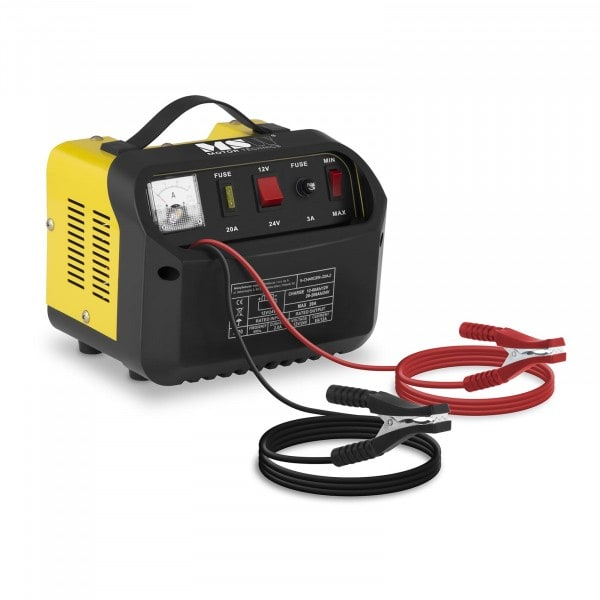 B-WARE Heavy Duty Battery Charger - 12/24 V - 8/12 A - Diagonal Control Panel