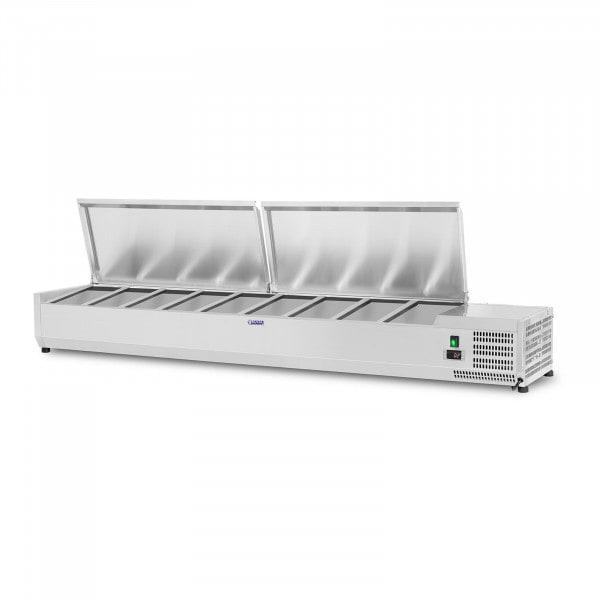 Countertop Refrigerated Display Case - 180 x 33 cm - 9 GN 1/4 Containers